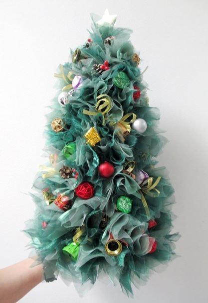 Мастер-класс «Новогодняя елочка из органзы и конфет»